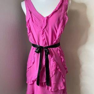 BCBG  hot pink dress SZ med